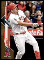 2020 Update Base Gold #U-243 Mike Trout /2020 - Angels