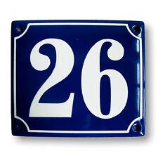 Numéro de rue - plaque emaillée personnalisée 10x12cm -NEUF- 10 ans de garantie