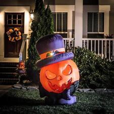 5' Inflatable  Pumpkin Halloween Airblown Yard Decor Outdoor LED jack o lantern