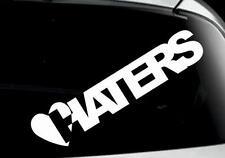 funny I LOVE HATERS car window bumper laptop bike sticker colours VW jdm DUB
