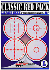 Quickscope Gaming Crosshairs Classic Red 4 Pack NEW LARGE Size Screens OVER 38""
