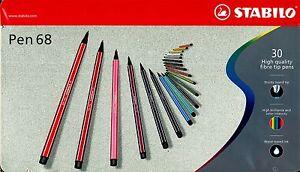 Rotuladores STABILO Pen 68 Caja de Metal 30 Colores Entrega Rápida
