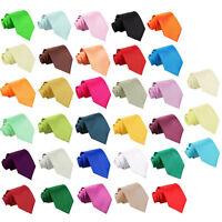 Hommes Cravate Satin Mariage Standard Slim Fine Noeuds Multicolore Marque DQT