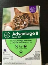 Advantage Ii Large Cat 6-Pack Flea Lice Larvae Topical Treatment Bayer New