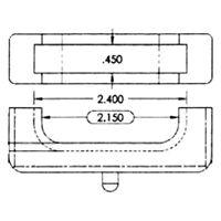 Prothane 7-1713-BL Black Small Block Radiator Isolator