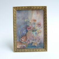 Peinture miniature - Nature morte - fin XIXe/ Début XXe Siècle - Signée Chadal
