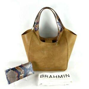 Brahmin Carla Whiskey Beaconsfield Suede Leather Shoulder Bag/Hobo & Wallet-NWT