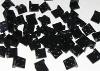 Lego Lot of 50 New Black Brackets 1 x 2 - 2 x 2 Inverted Pieces