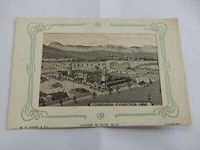 More details for edinburgh exhibition woven silk  1908  edwardan postcard