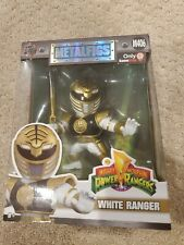 Mighty Morphin Power Rangers White Ranger DieCast MetalFigs M406  GameStop Jada