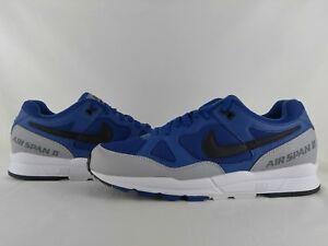 Nike Air Span II 2 Trainer Sneaker Gym Blue Black Grey Men's Size 9 AH8047-402