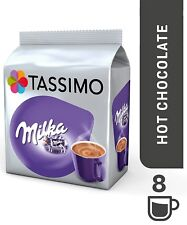 1 Pack Tassimo Milka Hot Chocolate Large T Discs Pods 8 T Discs 8 Large Drinks