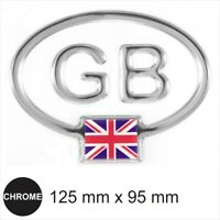 GB Oval Mirror Chrome Effect Dome Sticker with UK Union Flag 3D Gel Resin Decal
