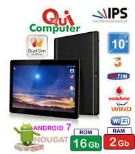 TABLET PC 10,1 POLLICI IPS 1280x800 QUAD CORE  RAM 2 GB ROM 16 GB  3G + CUSTODIA