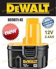 NEW Genuine Dewalt 12V 2.4 Ah XRP NiCad NiCd Battery pack DW9072 DC9071-XE