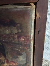 Antique oil painting dated and signed