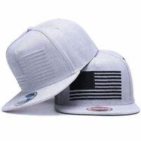 Flag Embroidered Baseball Cap Flat Bill Hip Hop Hats Adjustable Snapback Outdoor