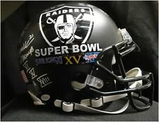 Team Signed Auto Authentic Full Size Helmet Oakland Raiders 3X Super Bowl JSA BK