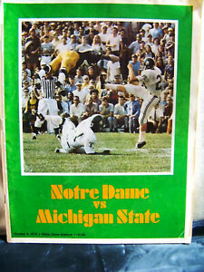 1973 Notre Dame Fighting Irish vs Michigan State Football Oct 6, 1973