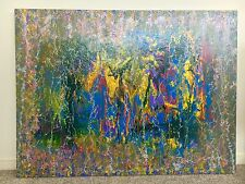 Lost Garden Abstract Painting On Canvas 91.4cm x 121.8cm
