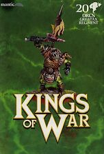 Kings of War Orcs Greatax Regiment MINT Mantic