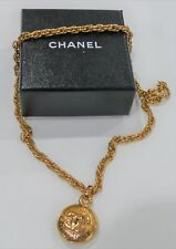 CHANEL COCO PARIS Vintage Double CC Lozenge Pendant & Necklace Costume Jewellery