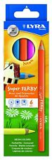 6 Lyra Super Ferby NEON dicke Farbstifte Buntstifte Tri Jumbo dreiflächig