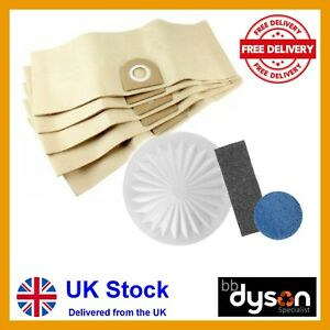 5 BAGS & FILTER KIT for VAX 121 2000 4000 5000 6131 6155 7131 8131 9131 3 in 1