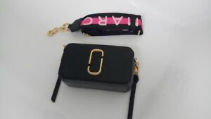 Marc Jacobs Snapshot Women's Camera Bag Black / Pink Small & Strap & Dust Cover