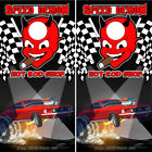 Cornhole Wraps Ford Mustang Caricature Decals Set of 2 Adhesive Vinyl Sheets