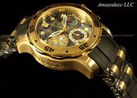 NEW Invicta Women's 38mm Scuba Pro Diver Blue Abalone Dial 18K Gold IP SS Watch