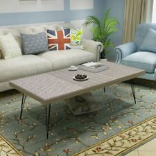 Grey Coffee Table Metal Legs Side End Living Room Home Furniture 120x60x38cm