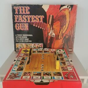Vintage 1970s The Fastest Gun Board Game Seventies Cowboys