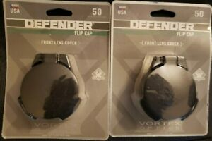 2 Defender Flip Cap Front Lens Cover Vortex Optics