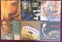 "PROMO MADONNA ORIG RECORD RELEASE 12"" POSTER FLATS RAY OF LIGHT MUSIC EVITA MORE"