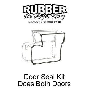 1959 Ford Door Seal Kit Does All Both Doors - 2 Door Sedan Wagon / Ranchero