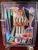 2020-21 Topps Chrome Match Attax Paulo Dybala Purple Refractor #016/299 Juventus