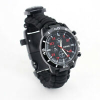 Outdoor Multi-function Paracord Bracelets Wacth Survival Camping Emergency Kit