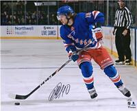 "Artemi Panarin New York Rangers Signed 16"" x 20"" Blue Jersey Skating Photo"