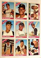 Lot of 9 1966 Topps PIRATES vintage cards Donn Clendenon, Willie Stargell