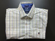 Louis Philippe Mens Shirt Size 42 / L Tailored Fit Long Sleeve Button Up Plaid