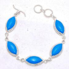 "Jewelry Bracelet 7-8"" Jw035 Sleeping Beauty Turquoise Gemstone Handmade"