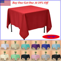 "70x70"" Square Tablecloth Polyester Table Cover for Wedding Party Banquet Events"