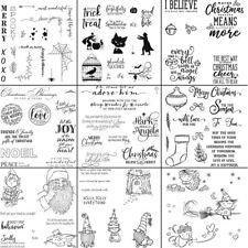 Weihnachten Xmas Santa Grüße Worte Sanft Gummi Stempel Scrapbooking 5.5X5.5inch