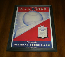 1948 ALL STAR GAME FRAMED PROGRAM COVER COLOR PRINT