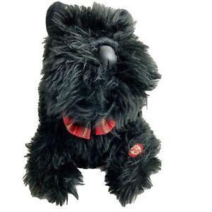 Department 56 Croonin' Critters Plush Singing Scottie Dog Black *Tested*