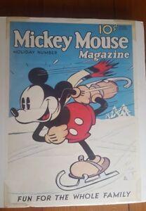 """Circa 1935 Mickey Mouse POSTER RARE! 24""""X17.5"""" Disney Collectible EXC+ Condition"""