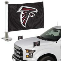 NFL Atlanta Falcons Ambassador Hood / Trunk Car Flag- Set of Two
