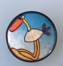 Very Rare Antivol , L'île Aux Enfants Serigraghy Brooch From Lea Stein.