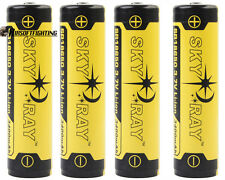 4X SKYRAY 18650 3.7V 3400mAh Li-ion PCB Protected Rechargeable Battery for Torch